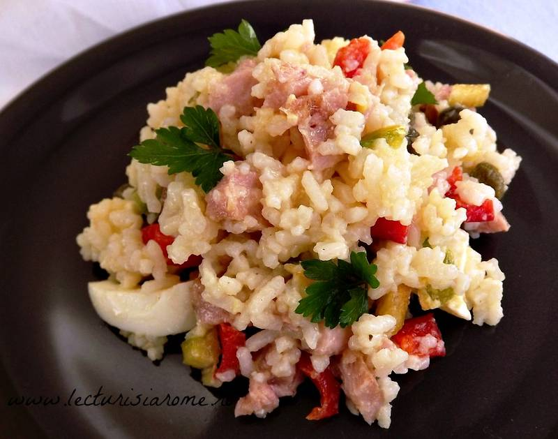 salata orez cu carne