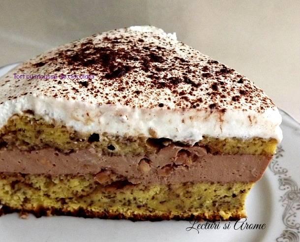 Tort cu mousse de ciocolata si mascarpone