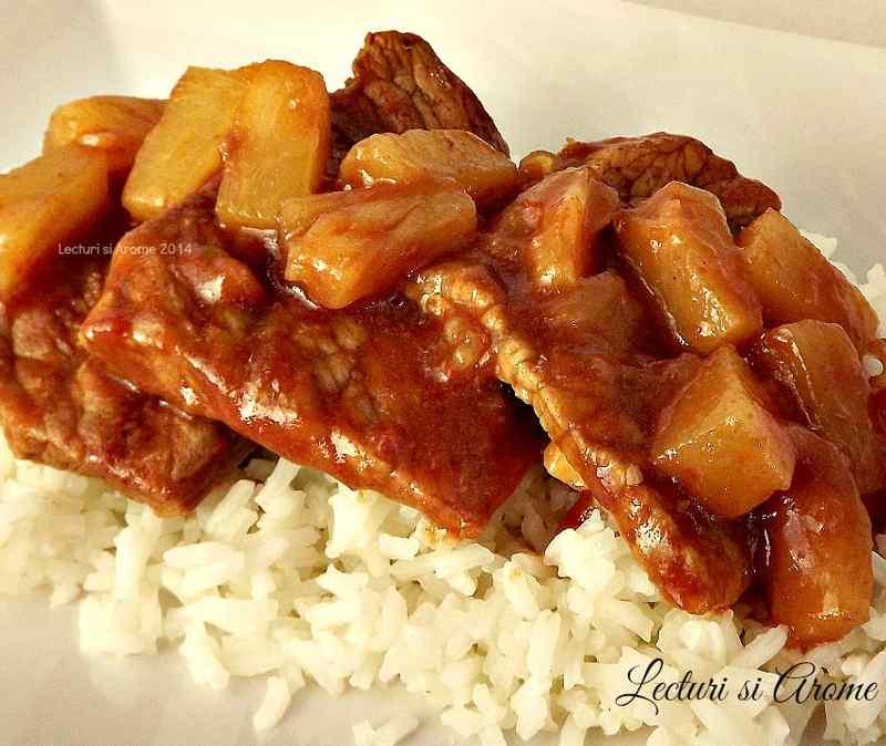 Friptura de porc in sos dulce acrisor