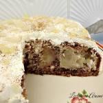 Tort cu mere intregi caramelizate, nuci si migdale