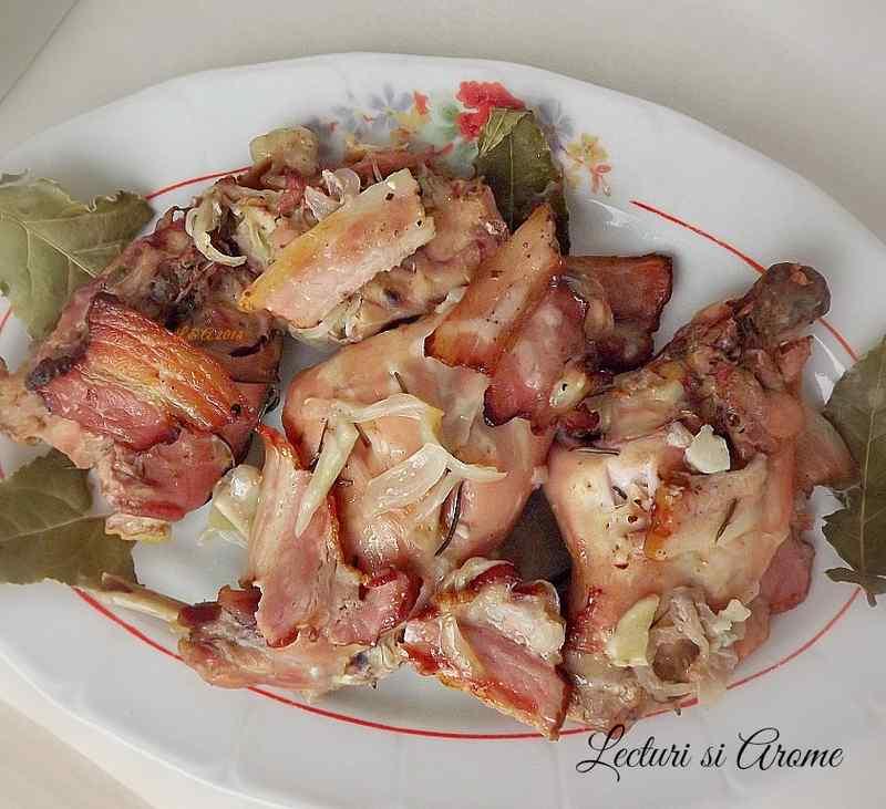 friptura de iepure la cuptor cu vin
