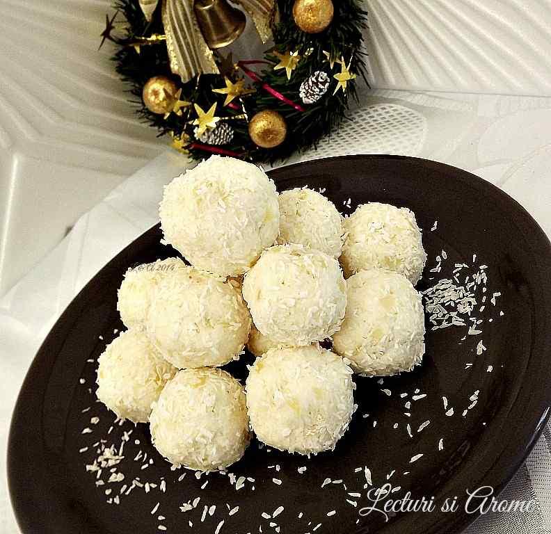 bomboane Raffaello cu mascarpone