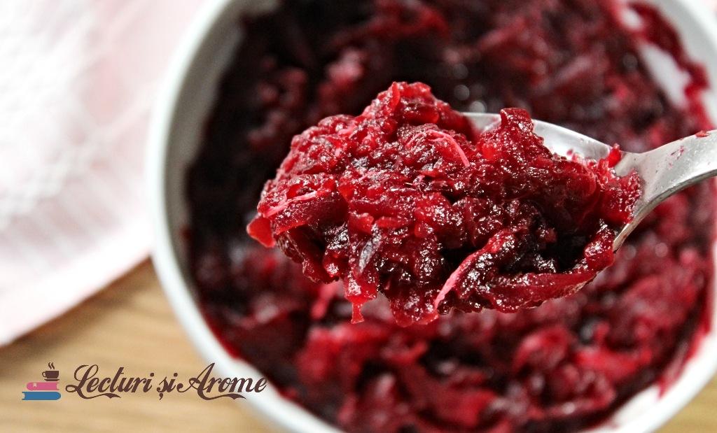 salata de sfecla rosie cu hrean si miere