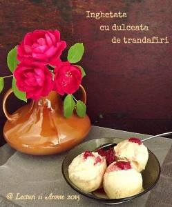 inghetata cu dulceata de trandafiri