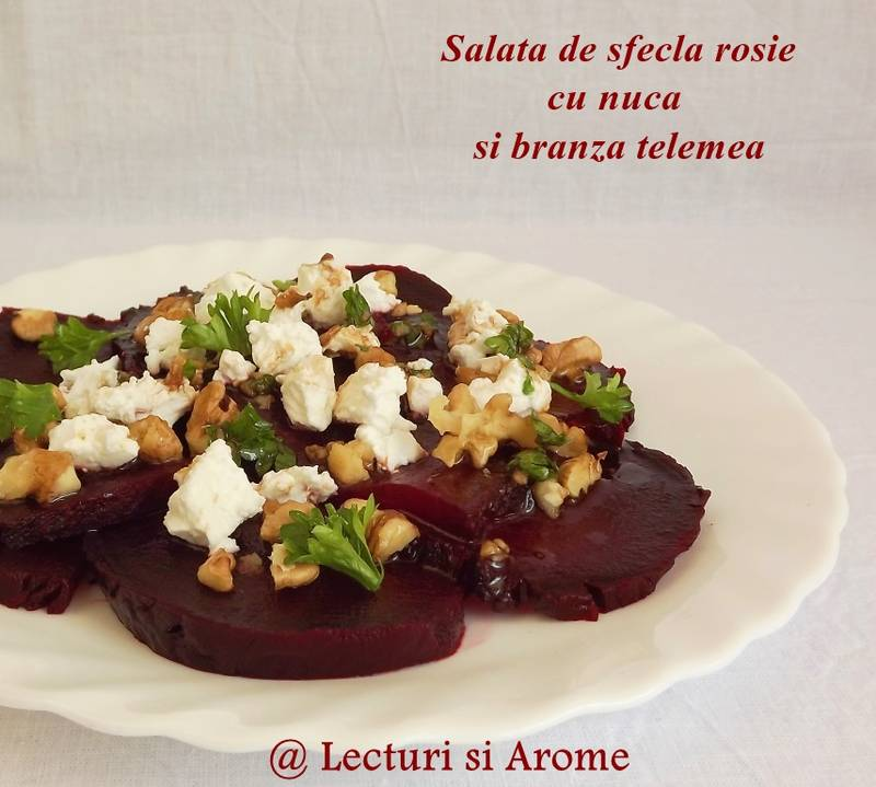 salata de sfecla rosie cu nuca