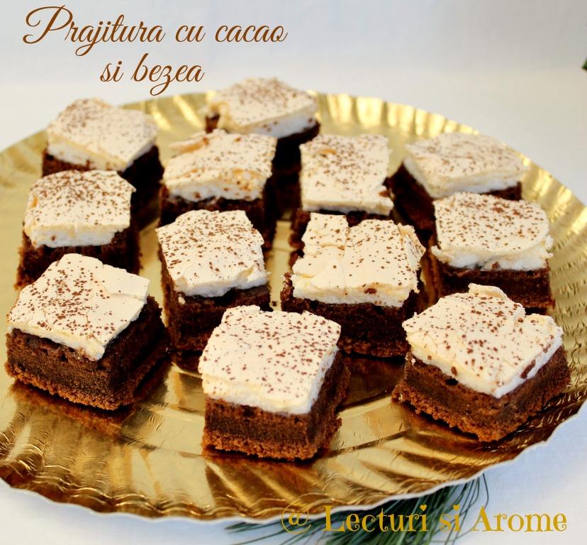 prajitura cacao bezea