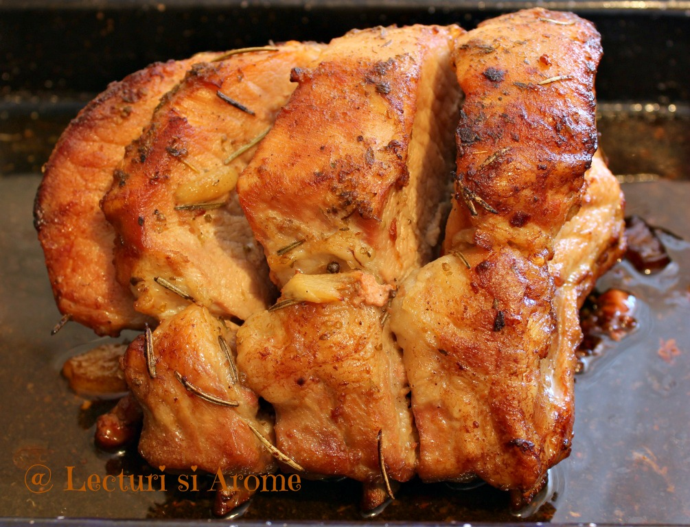 cotlet de porc cu os la cuptor