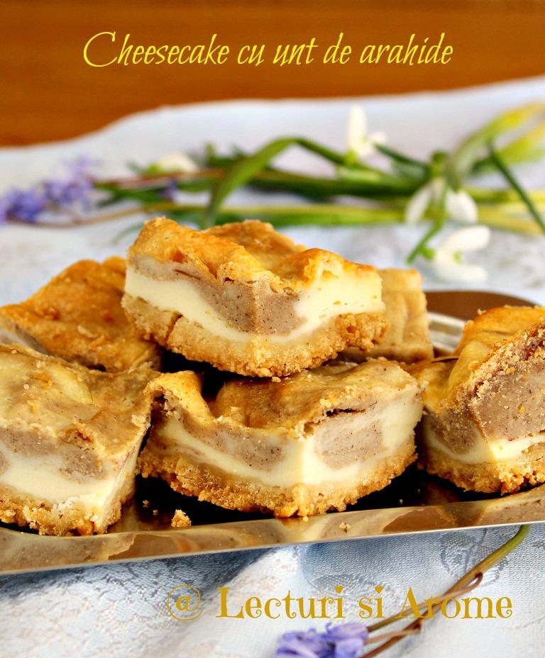 cheesecake cu unt de arahide 1