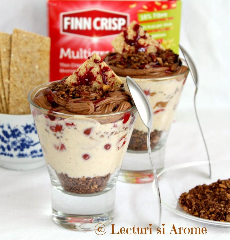 desert cu lapte de cocos si ciocolata