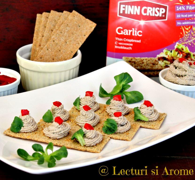 pasta ciuperci Finn Crisp