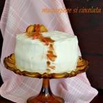 Tort cu mere caramelizate, mascarpone si ciocolata