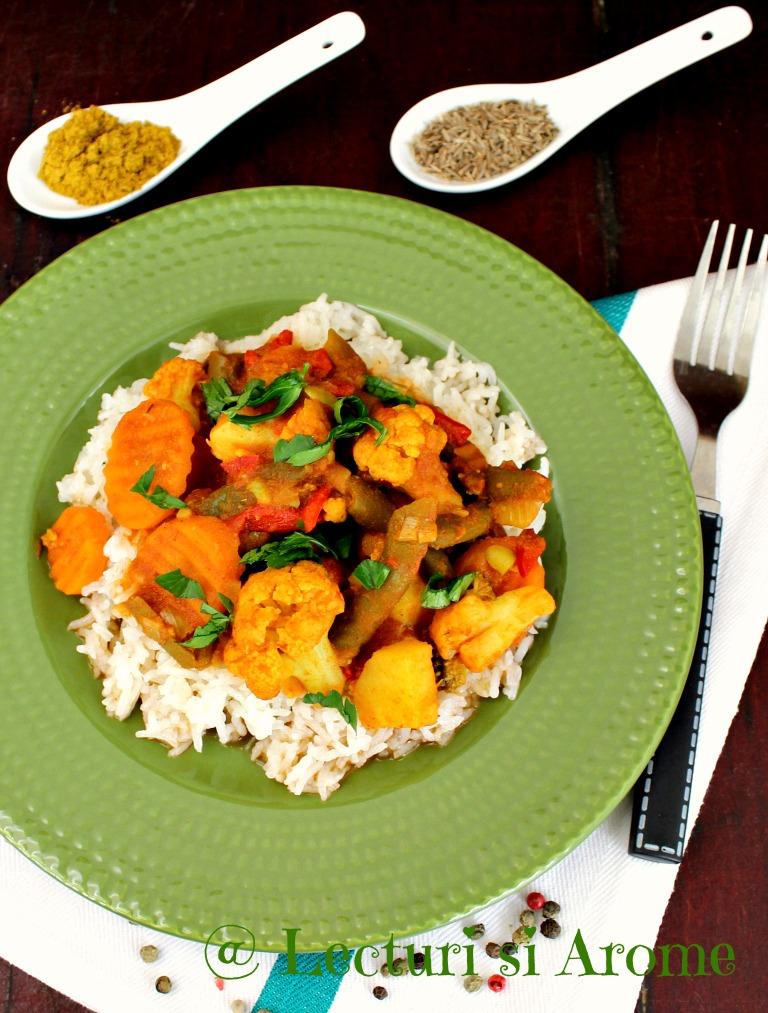 Ghiveci de legume in stil indian (curry de legume)