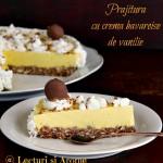 Prajitura cu crema bavareza de vanilie