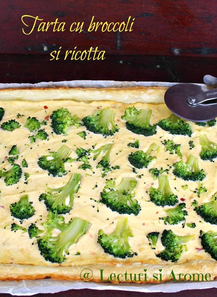 tarta cu ricotta si broccoli