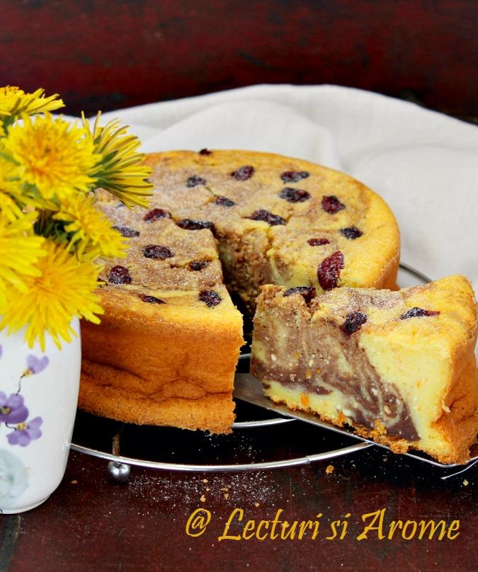 cheesecake marmorat cu cacao pasca fara aluat