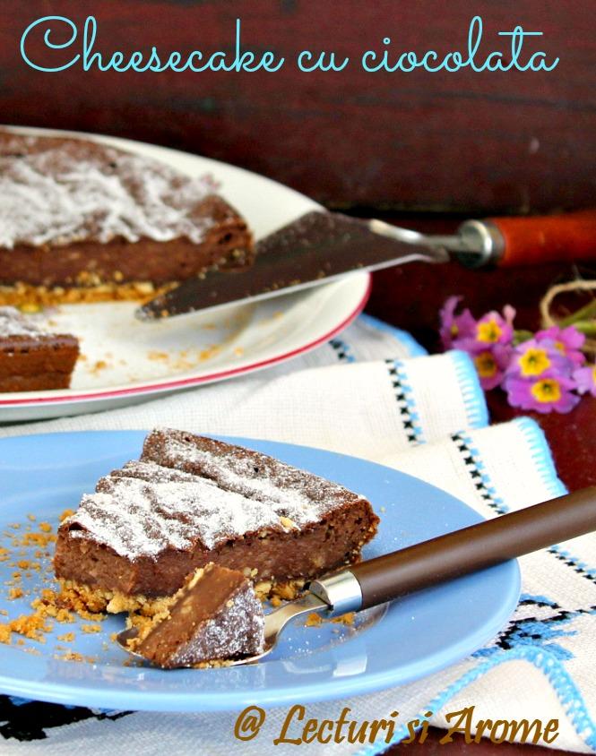 Cheesecake cu ciocolata (fara zahar)