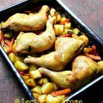 Pulpe de pui la cuptor cu legume