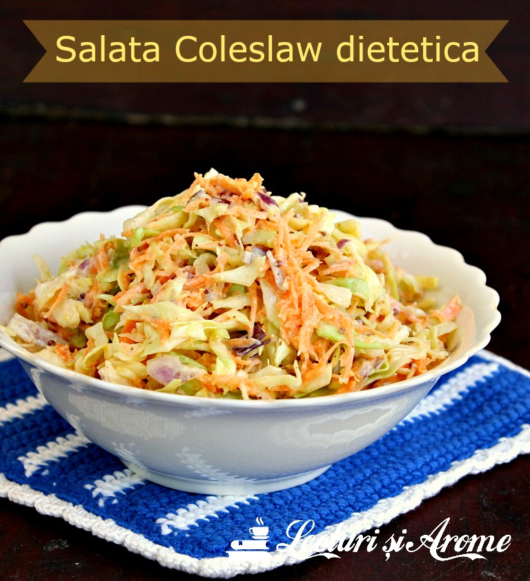 Salata Coleslaw dietetica cu varza si morcovi