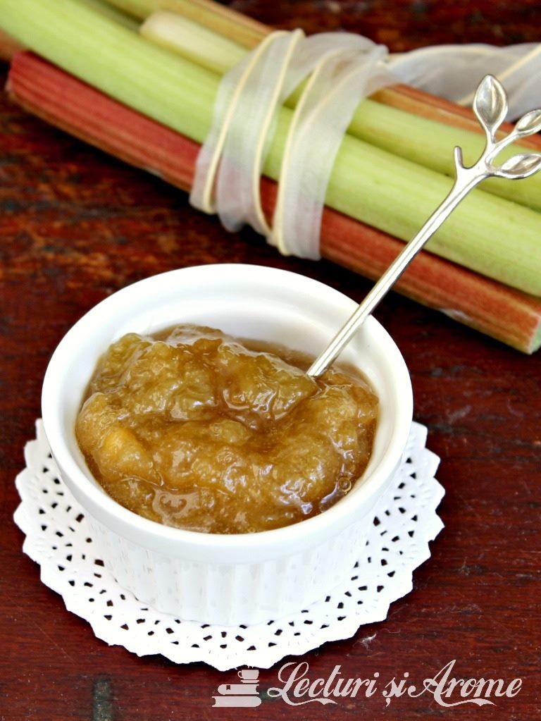 Gem de rubarbar cu mere si ghimbir