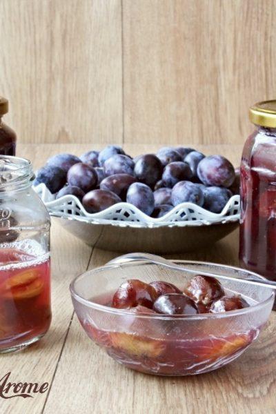 compot de prune întregi pentru iarnă