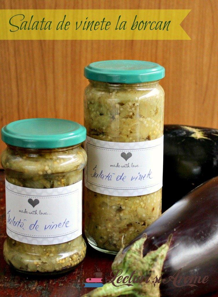 Salata de vinete la borcan pentru iarna