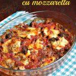Broccoli cu mozzarella si sos de rosii la cuptor