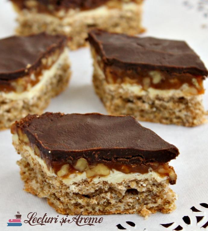 prajitura snickers cu nuca