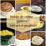 7 retete de creme pentru tort, prajituri, desert la pahar