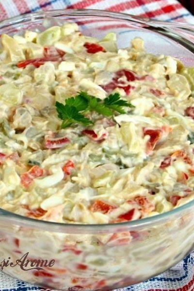 salată de ciuperci cu maioneză