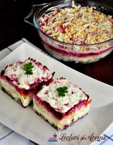 salata ruseasca cu peste afumat