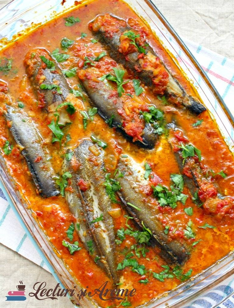 Peste cu sos de rosii si lapte de cocos (Kerala fish curry)