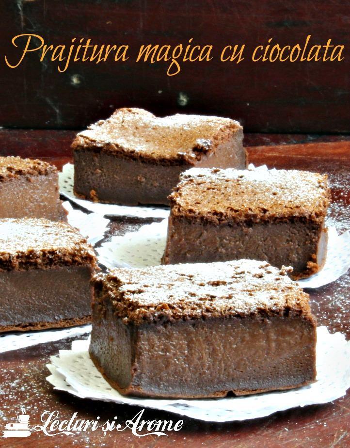 prăjitură magică cu ciocolată