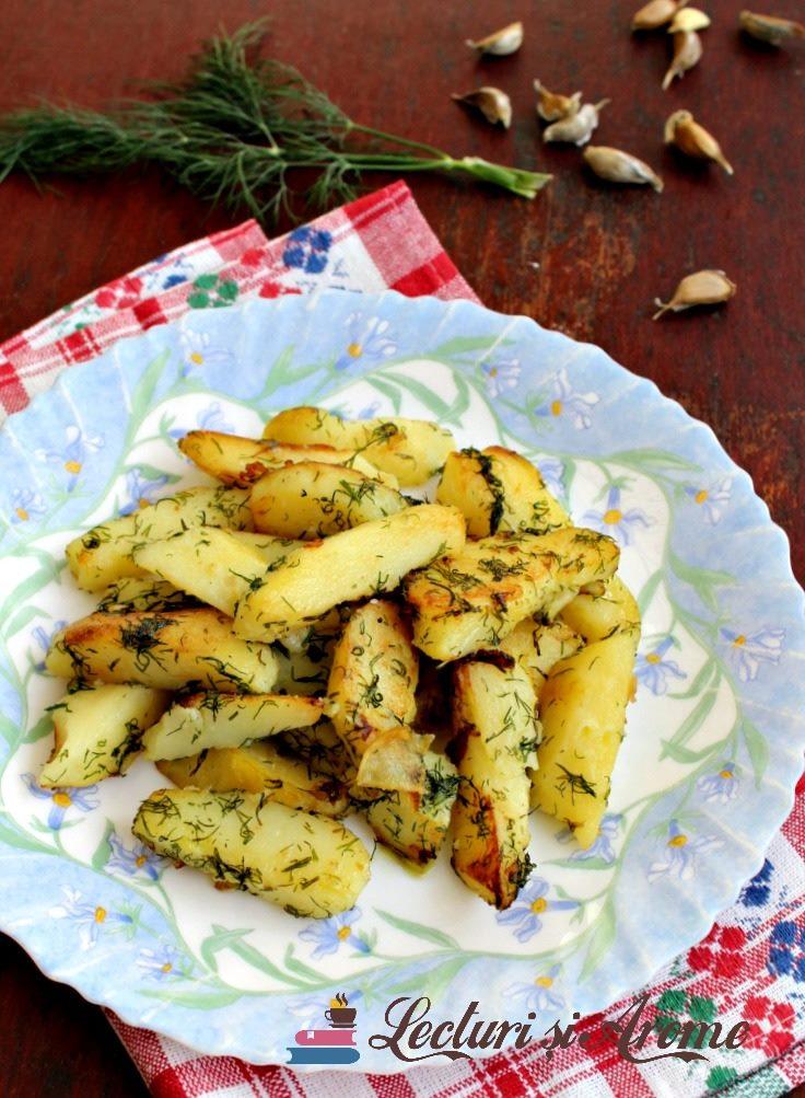 cartofi prăjiți cu mărar