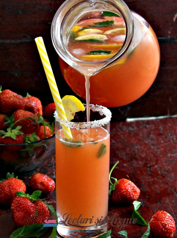 limonadă căpșuni