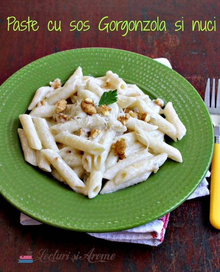 Paste cu sos din brânză Gorgonzola și nuci