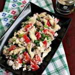 Salată de orez cu pește (păstrăv crăiesc)