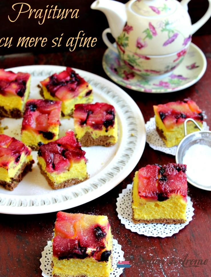 prăjitură răsturnată cu afine