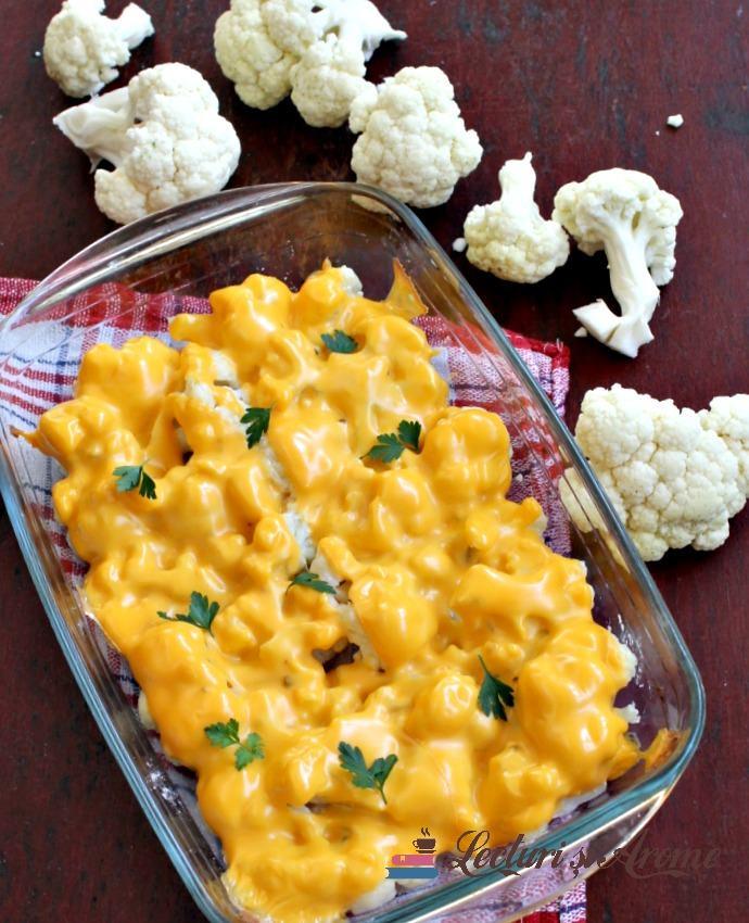 Conopidă cu brânză topită la cuptor
