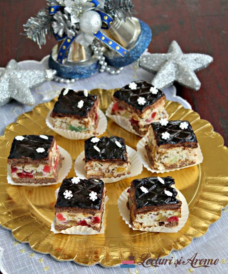 prăjitură Rumba cu foi de napolitană
