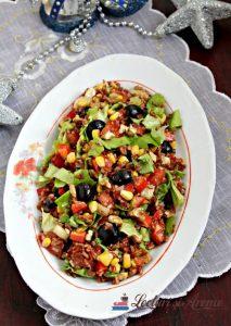 salată cu orez roșu