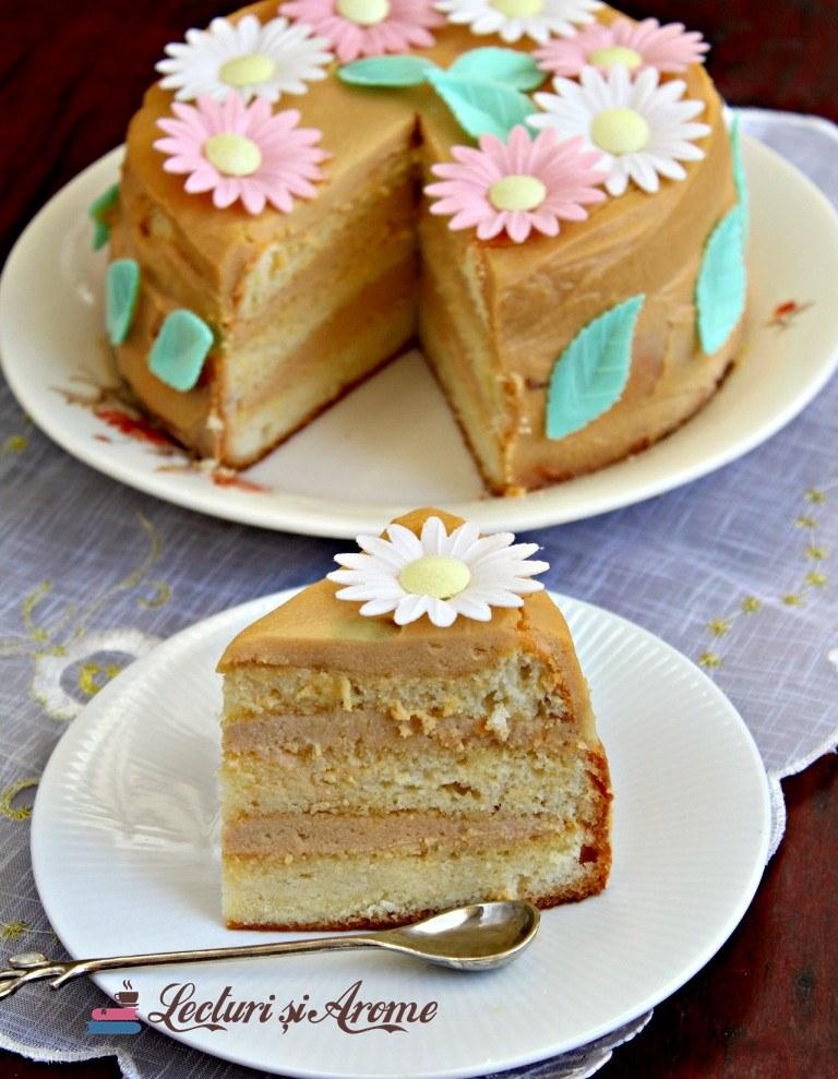 tort cu cremă caramel și mascarpone