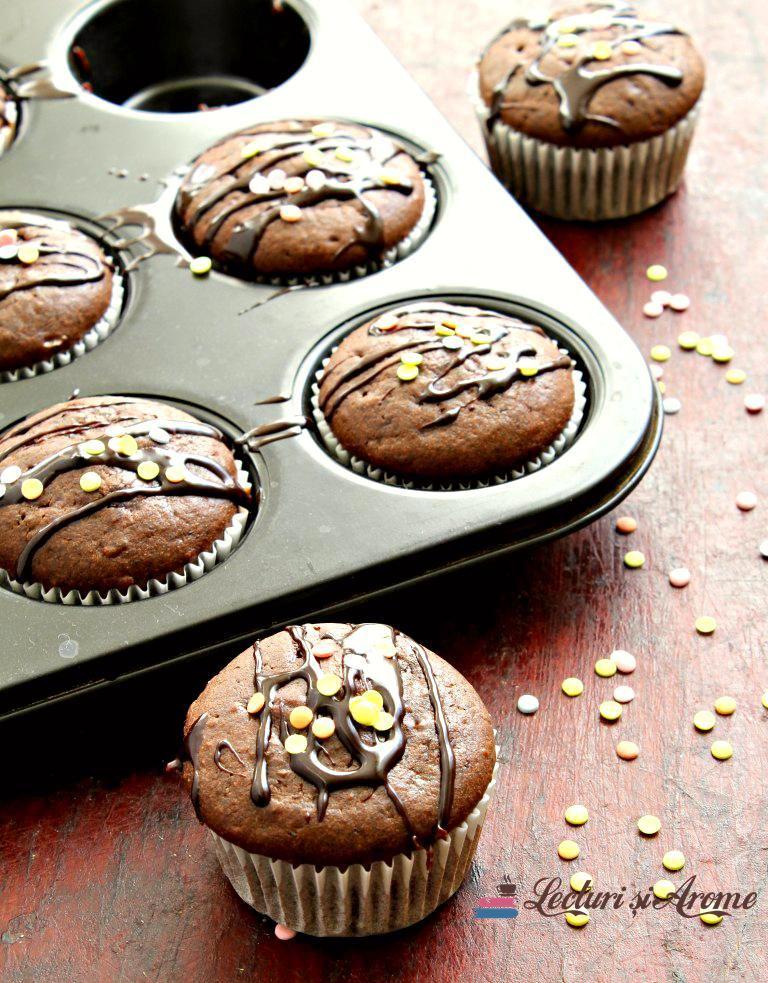 brioșe cu ciocolată neagră