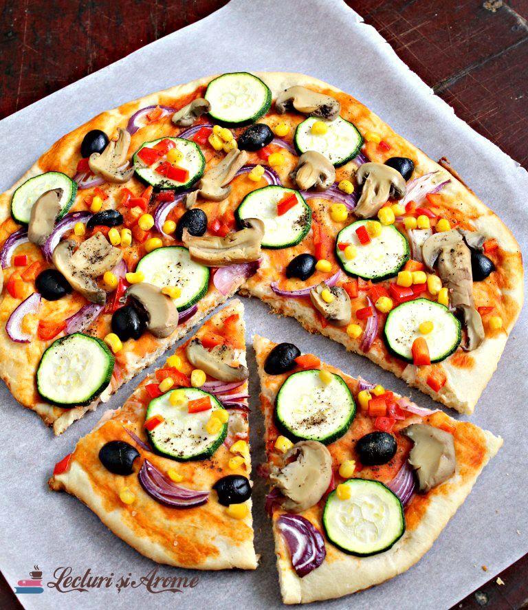 pizza de post cu legume multe