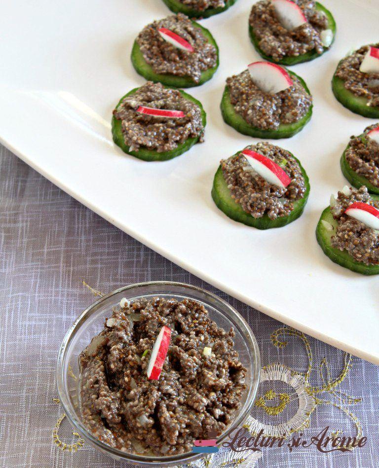 salata de icre din semințe de chia (de post)