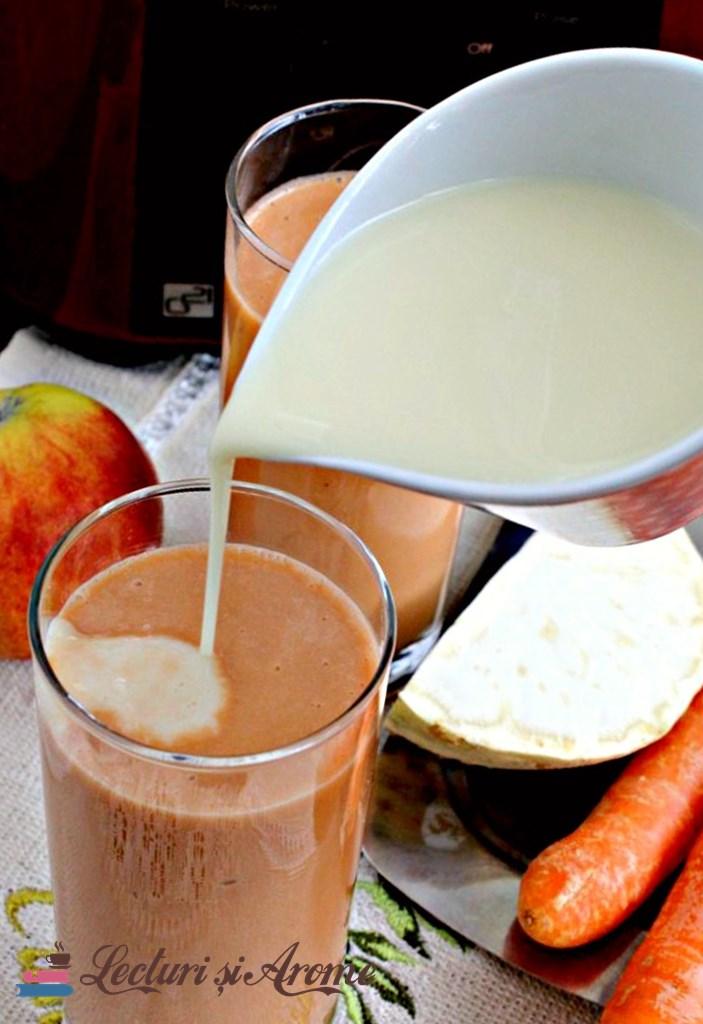 smoothie cu morcov si lapte de soia