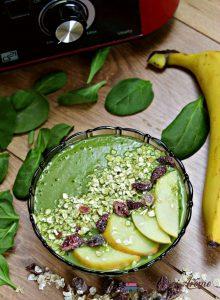 smoothie bowl cu spanac și fulgi de ovăz la G21 Perfect Smoothie Vitality