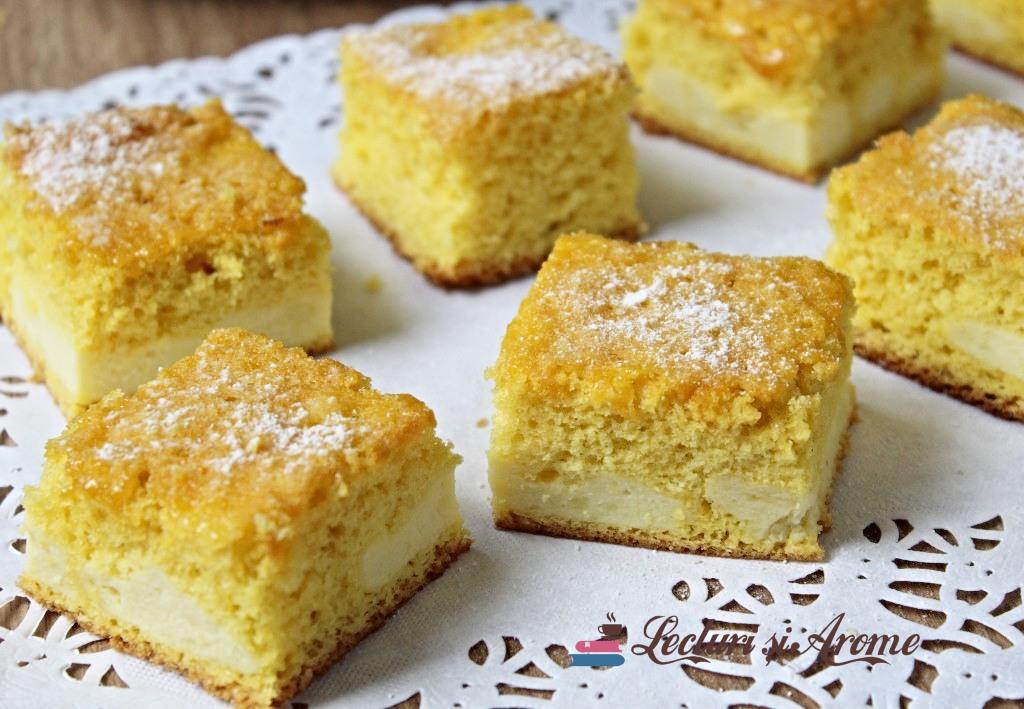 Prăjitură rapidă cu brânză – gustoasă și ușor de făcut