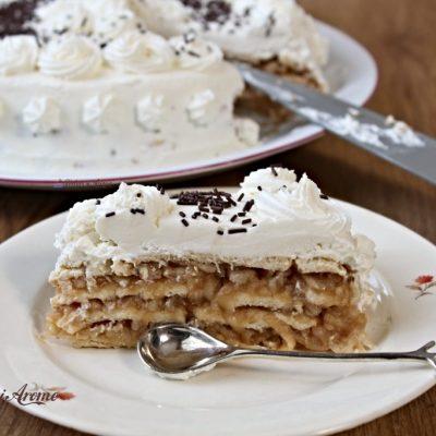Tort de biscuiți cu mere (FĂRĂ coacere)