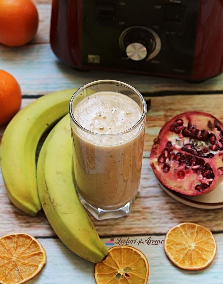 smoothie cu rodie și portocală lecturi si arome