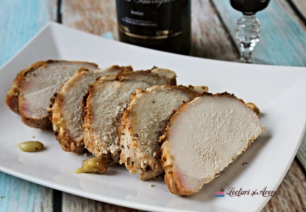cotlet de porc la cuptor cu vin